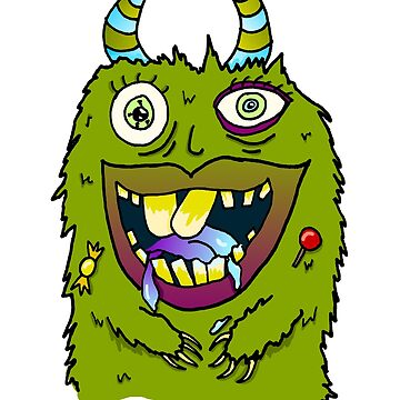 Crazy Candy Monster Doodle by SharkaSplat