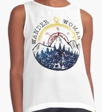 Camping Wander Woman Hiking Vintage Contrast Tank