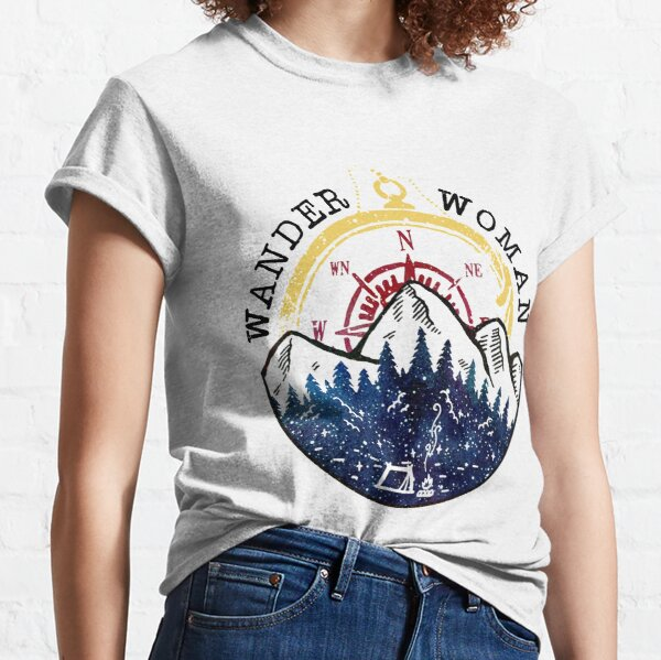 Camping Wander Woman Hiking Vintage Classic T-Shirt