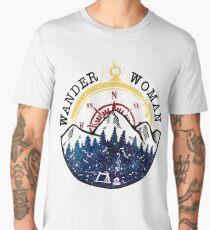Camping Wander Woman Hiking Vintage Men's Premium T-Shirt
