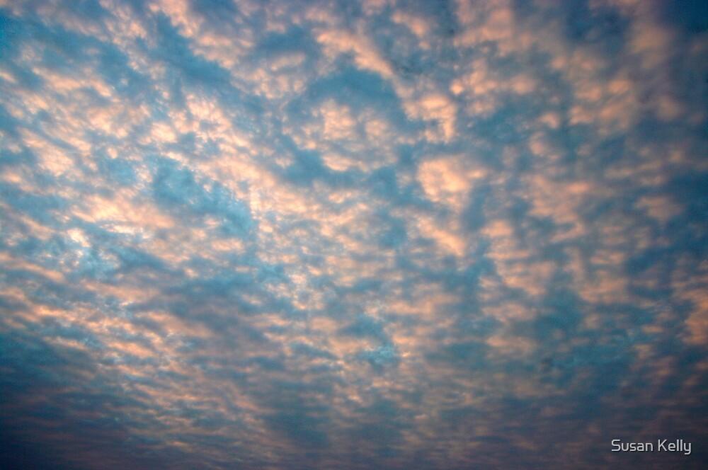 Pink clouds, Bingil Bay beach, QLD. by Susan Kelly