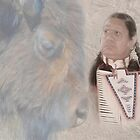 American Indian and Buffalo/Bison by Dyle Warren