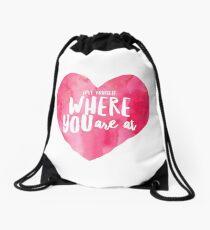 Love Yourself Drawstring Bag