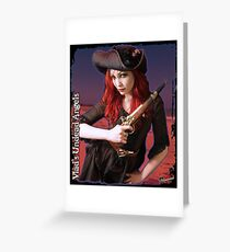Undead Angels: Vampire Pirate Greeting Card