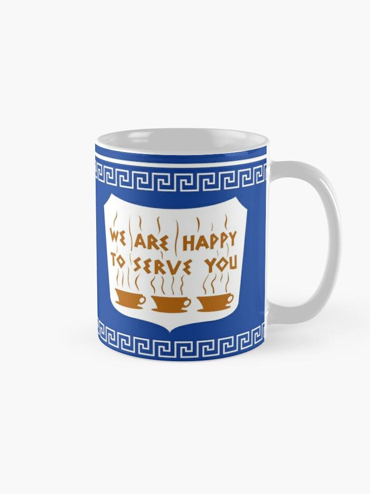 Alternate view of NYC Greek Anthora Coffee Cup Design Mug
