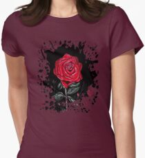 Night Rose Womens Fitted T-Shirt