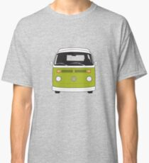 Late Bay VW Camper Green Front Classic T-Shirt