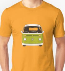 Late Bay VW Camper Green Front T-Shirt