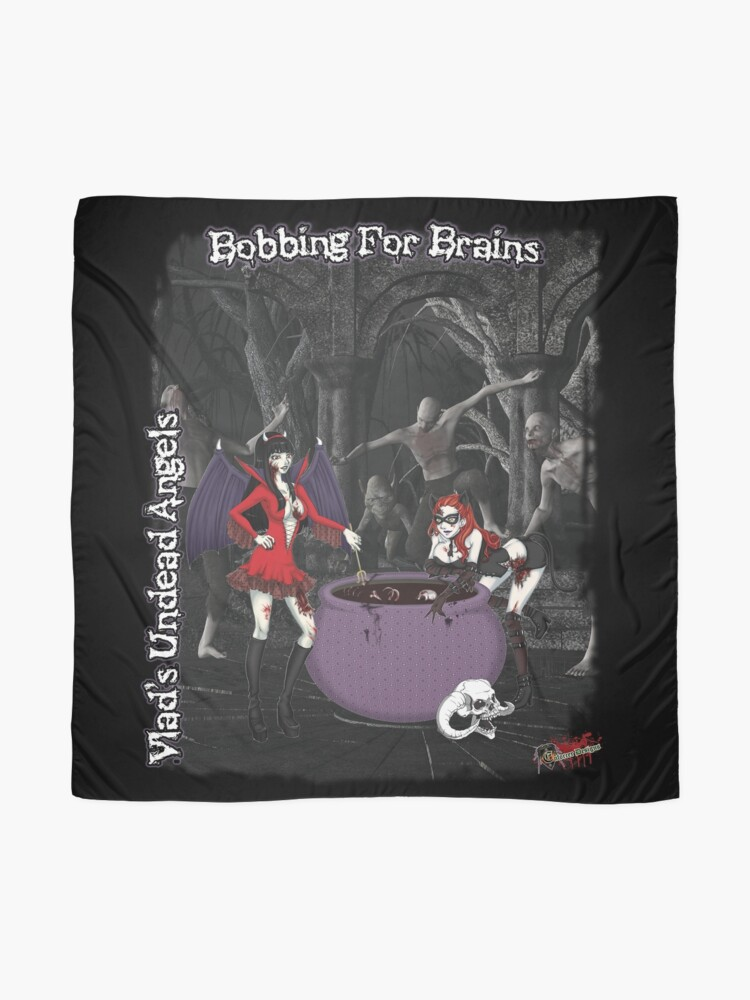 Alternate view of Undead Angels: Bobbing For Brains Scarf