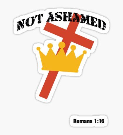 Not Ashamed (light tee) Sticker