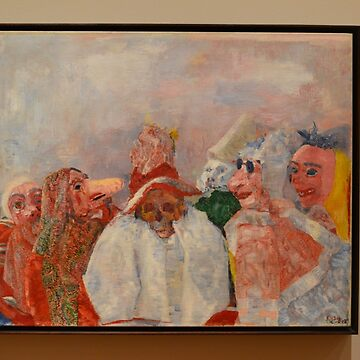 Masks Confronting Death - James Ensor  by seanwiththewind