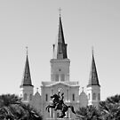 St. Louis Cathedral from Jackson Square 3  by Robert Meyers-Lussier