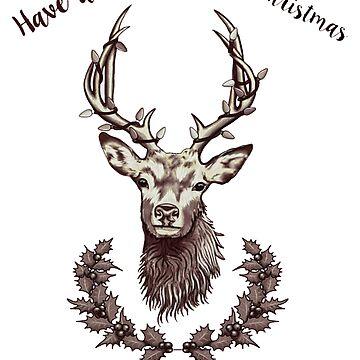 Christmas Fraser Stag by Tarajillian