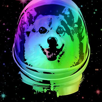 Corgi Astronaut In Outer Space by idaspark