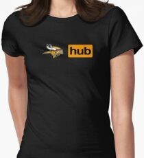 Minnesota Vikings Porn Hub Women's Fitted T-Shirt