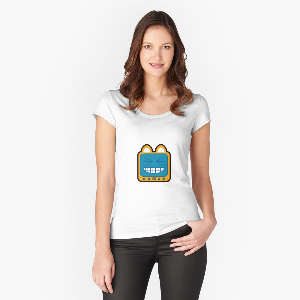 Television Kitty LOL 2 Fitted Scoop T-Shirt