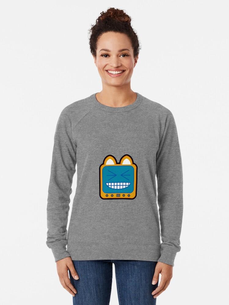 Alternate view of Television Kitty LOL 2 Lightweight Sweatshirt