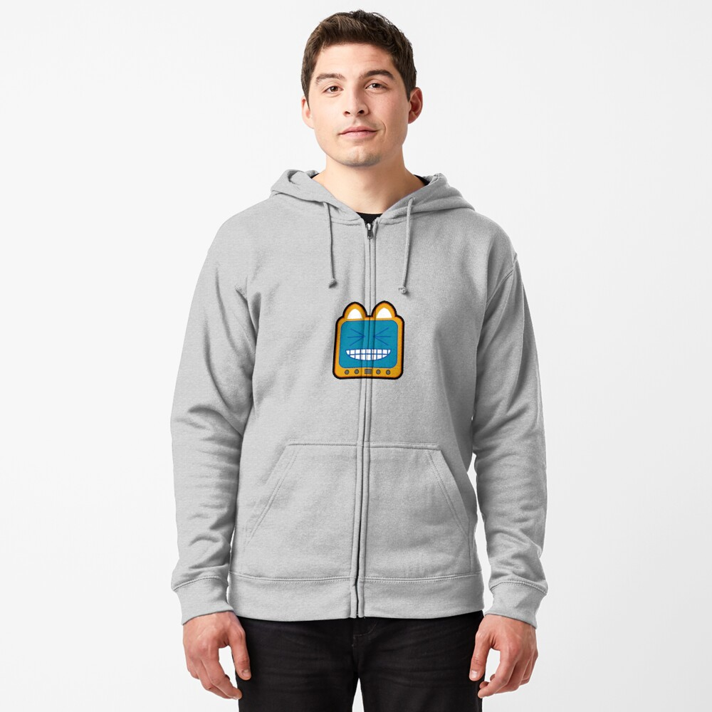 Television Kitty LOL 2 Zipped Hoodie