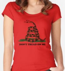 Don't Tread on Me  Women's Fitted Scoop T-Shirt