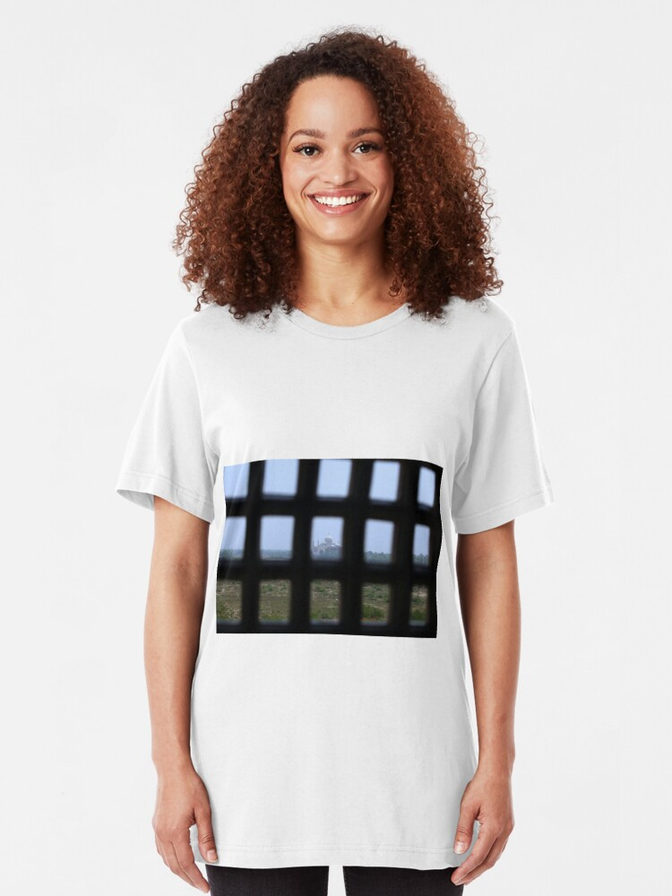 Alternate view of A Prisoners view of the Taj Mahal Slim Fit T-Shirt