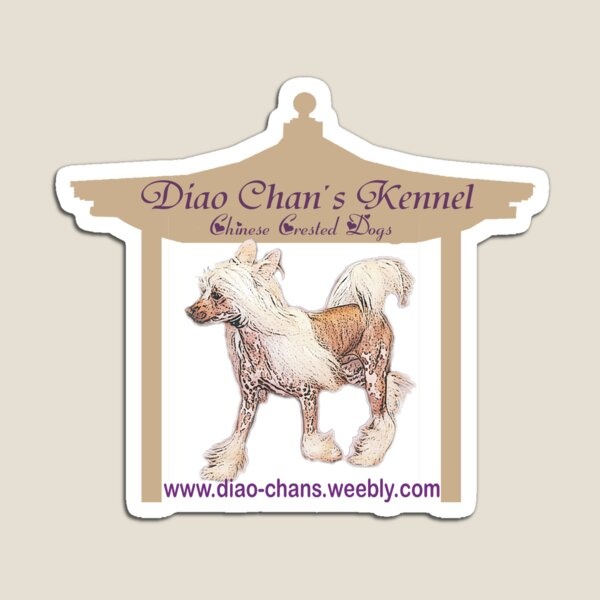 Diao Chan´s Chinese Crested Dogs Magnet