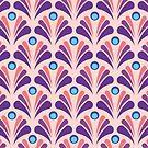 Geometric Pattern: Art Deco: Peacock: Festive by * Red Wolf