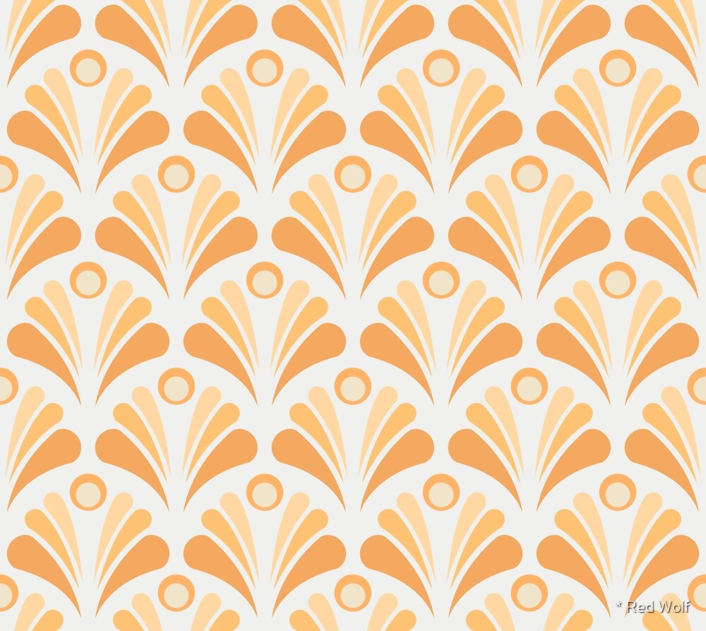 Geometric Pattern: Art Deco: Peacock: Popsicle by * Red Wolf