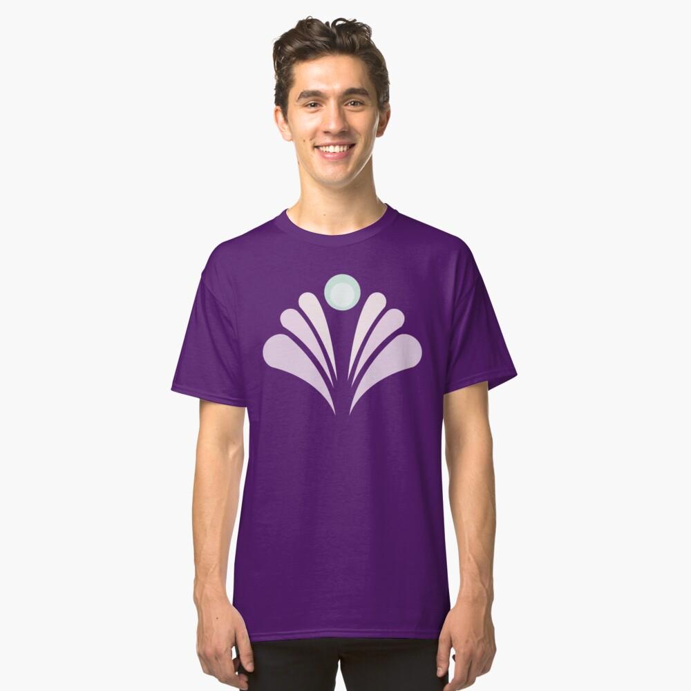 Geometric Pattern: Art Deco: Peacock: Marshmallow Classic T-Shirt Front