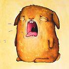 Wayne the sad bunny by Lavinia Knight