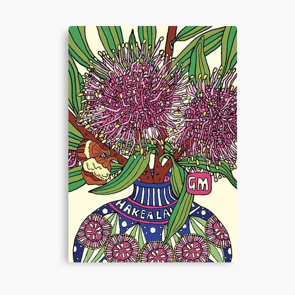 Bud Vase of Hakea Laurina Canvas Print