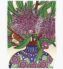 Bud Vase of Hakea Laurina Poster