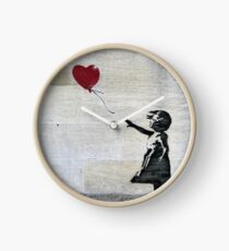 Banksy's Girl with a Red Balloon Clock