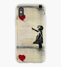 Banksy's Girl with a Red Balloon III iPhone Case