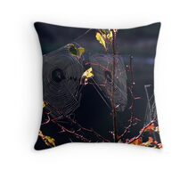 Octobers Feast in a  Rainbow  Throw Pillow