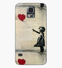 Banksy's Girl with a Red Balloon Case/Skin for Samsung Galaxy