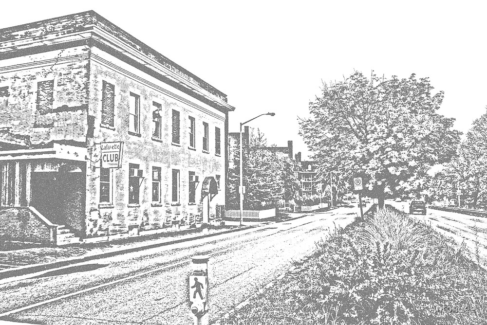 The Lafayette Club sketched by AntonLee