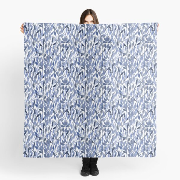 Indigo Leaves Scarf