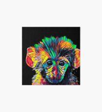 Cute Baby Monkey Colored Design Art Board