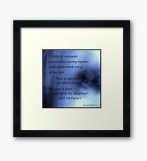 Creativity Represents... Framed Print