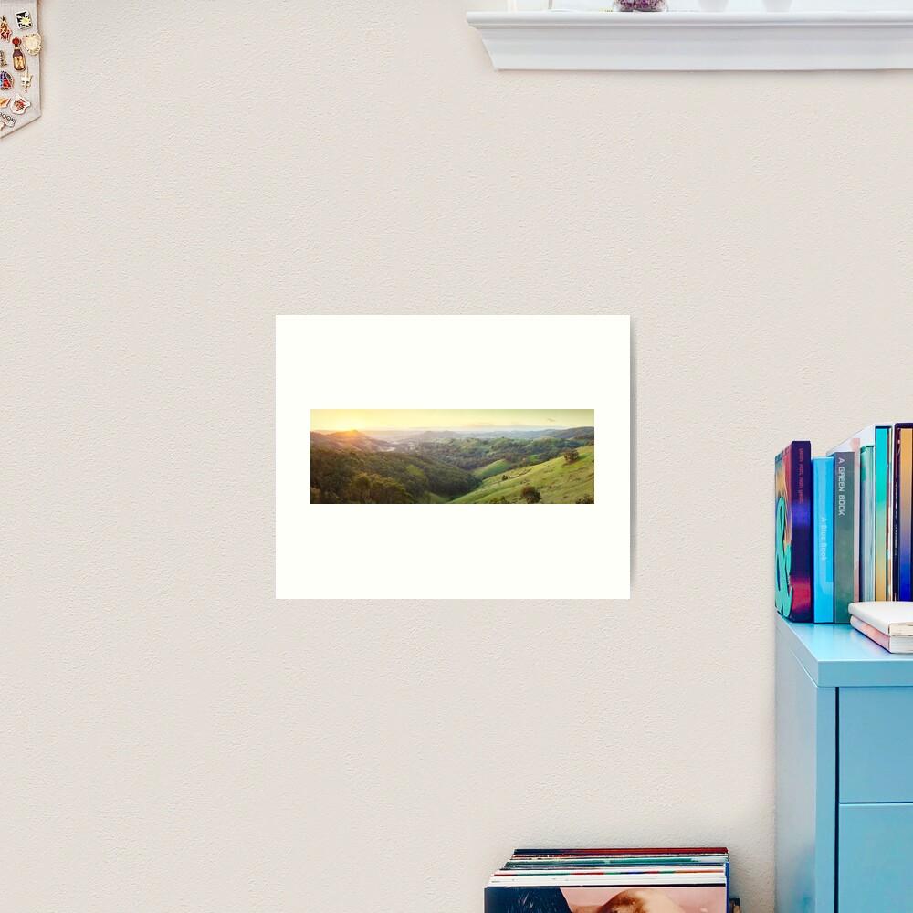 Valley of a Thousand Hills, Murchison Gap, Victoria, Australia Art Print