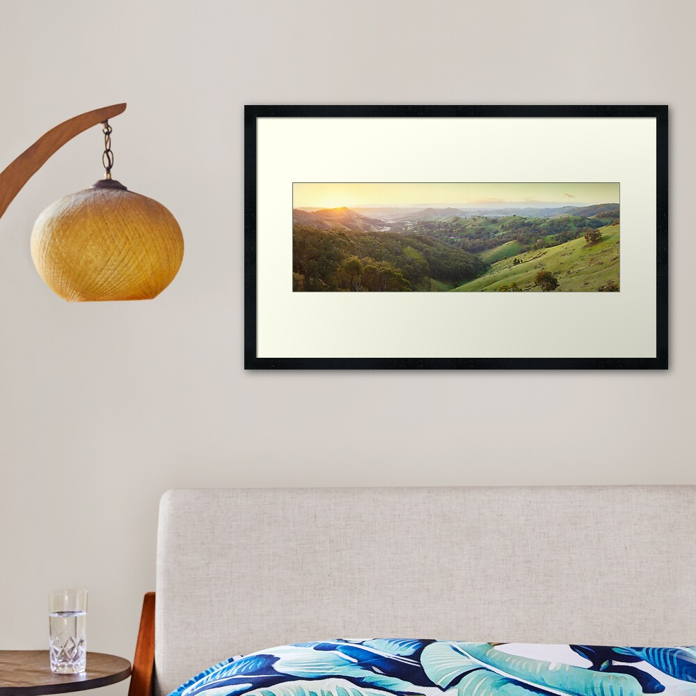 Valley of a Thousand Hills, Murchison Gap, Victoria, Australia Framed Art Print