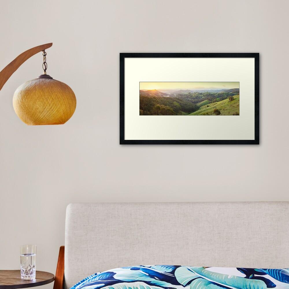 Valley of a Thousand Hills, Murchison Gap, Victoria, Australia Framed Art Print