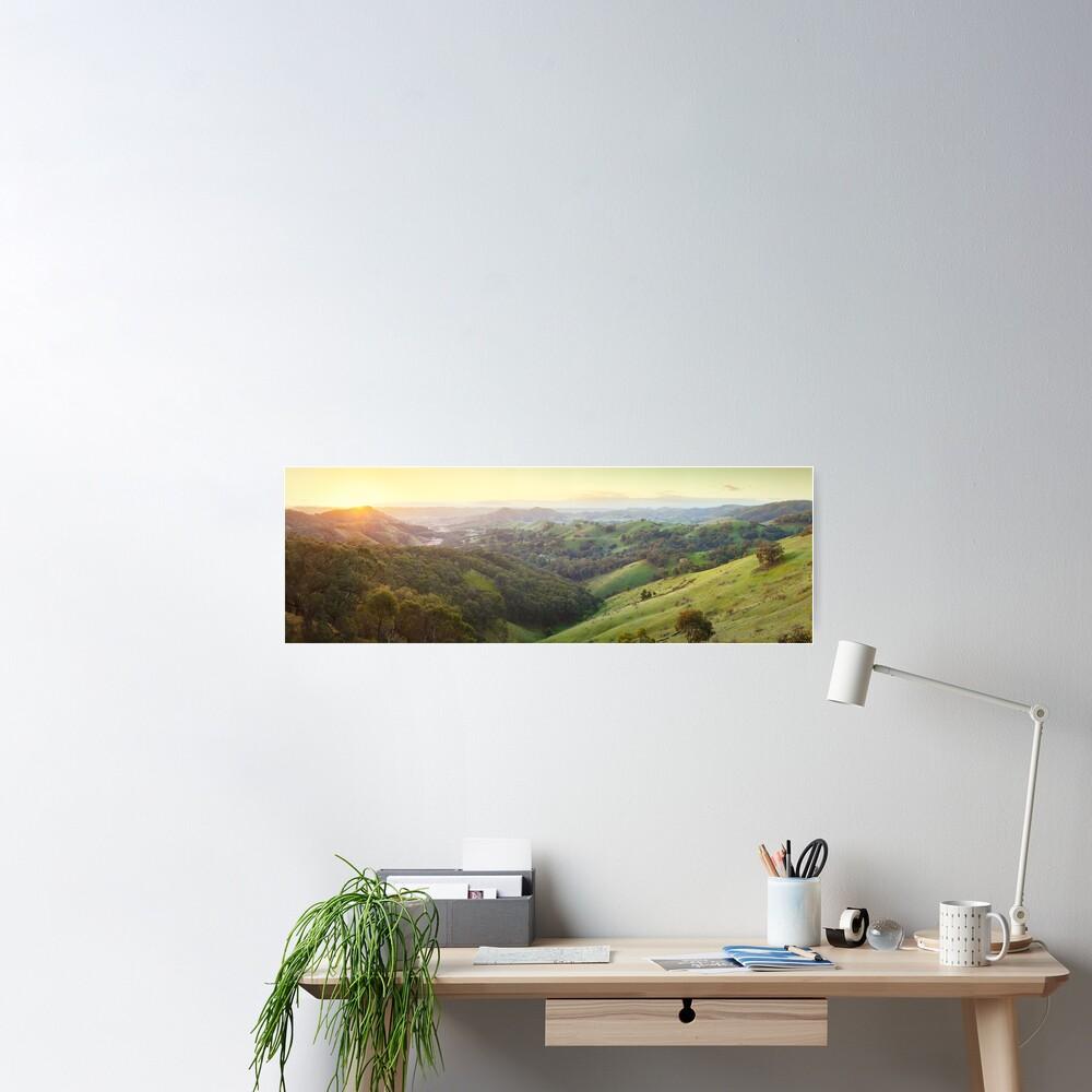 Valley of a Thousand Hills, Murchison Gap, Victoria, Australia Poster