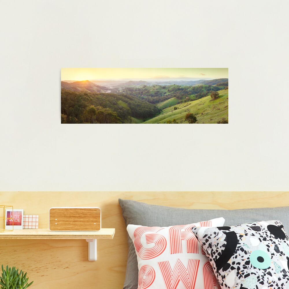 Valley of a Thousand Hills, Murchison Gap, Victoria, Australia Photographic Print