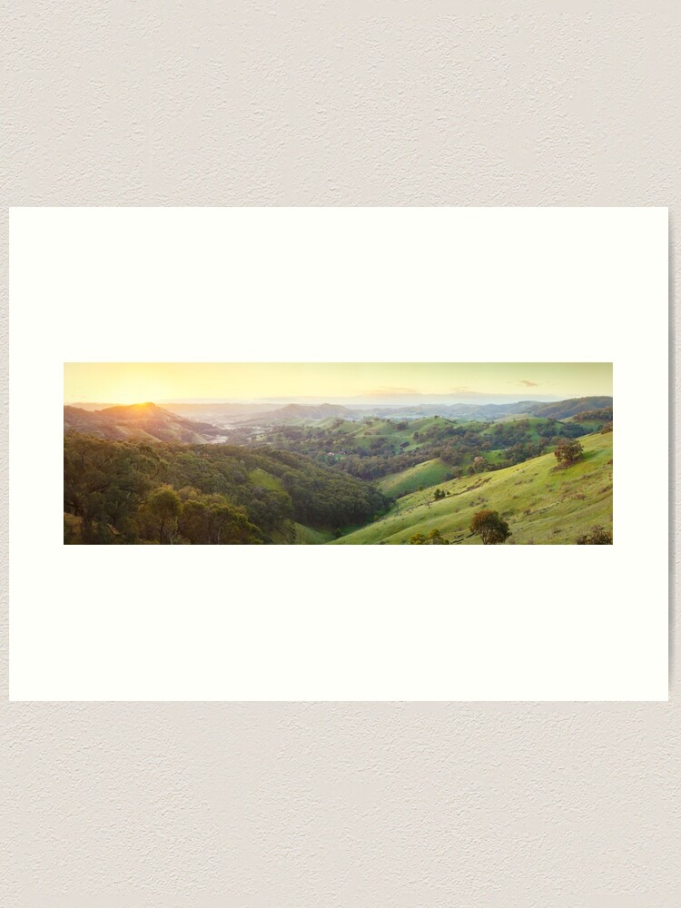 Alternate view of Valley of a Thousand Hills, Murchison Gap, Victoria, Australia Art Print