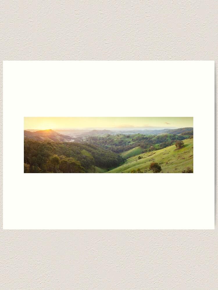 Alternate view of Valley of a Thousand Hills, Murchison Gap, Victoria, Australia Art Print