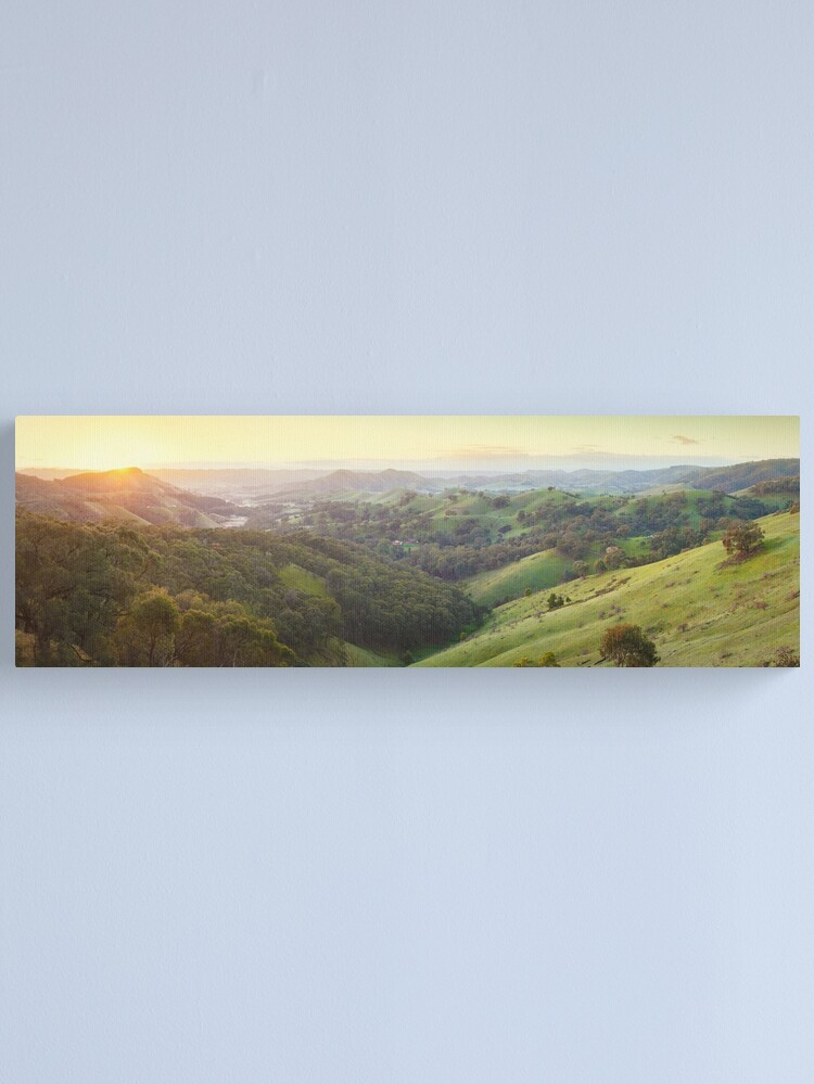 Alternate view of Valley of a Thousand Hills, Murchison Gap, Victoria, Australia Canvas Print