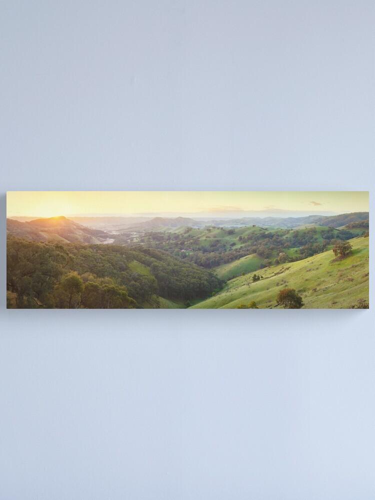 Alternate view of Valley of a Thousand Hills, Murchison Gap, Victoria, Australia Canvas Print