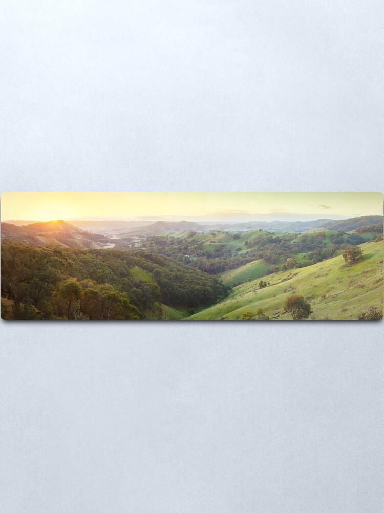 Alternate view of Valley of a Thousand Hills, Murchison Gap, Victoria, Australia Metal Print