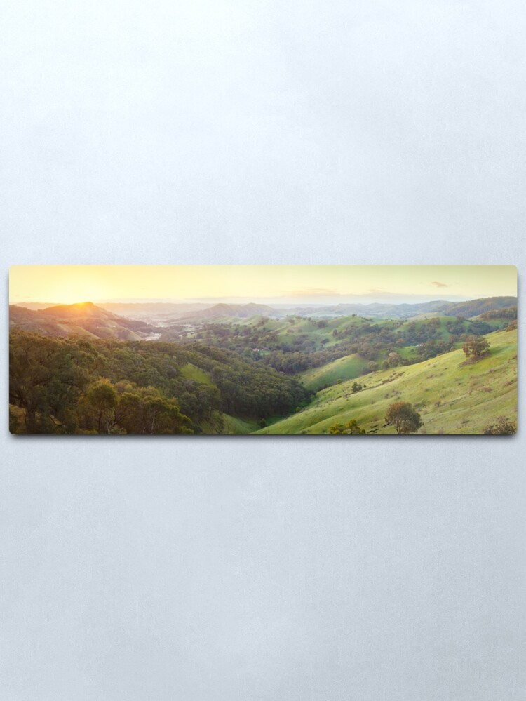 Alternate view of Valley of a Thousand Hills, Murchison Gap, Victoria, Australia Metal Print